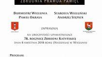 Uroczystości upamiętniające 78. Rocznicę Zbrodni Katyńskiej