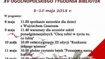 Obchody XV Ogólnopolskiego Tygodnia Bibliotek