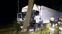 Wypadek samochodu ciężarowego nadrodze Mokrsko – Skomlin