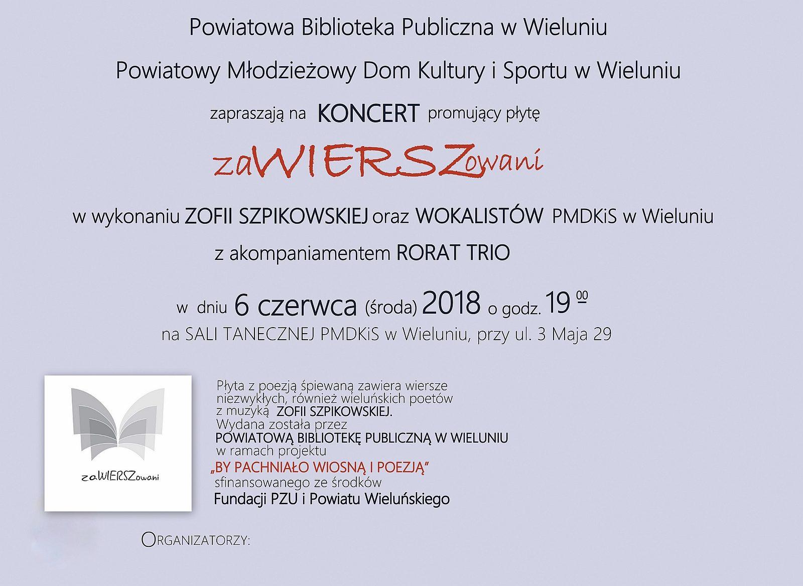 Koncert Promujący Płytę Zawierszowani Kocham Wieluń