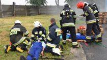 Naterenie zakładów mięsnych wMokrsku przeprowadzono ćwiczenia doskonalące współpracę służb ratunkowych