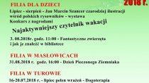 Wakacje w Miejskiej i Gminnej Bibliotece Publicznej w Wieluniu