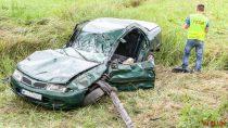 Dwie osoby ranne wwypadku wCzarnej koło Złoczewa