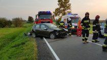Trzy osoby ranne wwypadku naDrodze Krajowej nr45 nawysokości Woli Rudlickiej