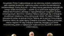 """Retransmisja opery Piotra Czajkowskiego pt. """"Eugeniusz Oniegin"""""""