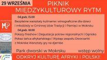 Już jutro odbędzie się Piknik – Międzykulturowy Rytm wMokrsku