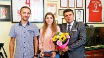 Złoty medal dla juniorki Dominiki Włodarczyk zMLKS Wieluń wGórskich Mistrzostwach Polski wKolarstwie Szosowym