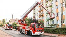 Wieluńscy strażacy kontrolują podwzględem bezpieczeństwa przeciwpożarowego osiedla wmieście