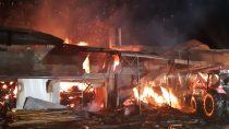Na220 tys. złotych oszacowano straty wwyniku pożaru wmiejscowości Grębień