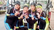 Wieluńskie zawodniczki zdobyły brązowy medal Mistrzostw Polski Juniorek wjeździe dwójkami