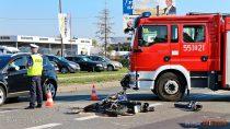 Wwypadku naul.Głowackiego wWieluniu został ranny motocyklista