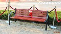 Wparku im.Żwirki iWigury wWieluniu odsłonięto ławeczkę poświęconą bohaterskiej Irenie Sendlerowej