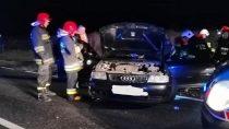 Jedna osoba poszkodowana naskutek zdarzenia drogowego wmiejscowości Wydrzyn
