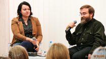 Spotkanie autorskie wbibliotece zpisarzem fantasy Andrzejem Pilipiukiem