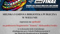 """Spektakl na podstawie fragmentów """"Zemsty"""" Aleksandra Fredry w bibliotece miejskiej"""