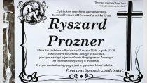 Pogrzeb Ryszarda Proznera jest jutro ogodz.13:30. Jest też prośba odrodziny