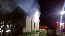 Pożar budynku mieszkalnego wGaszynie