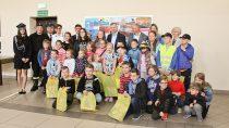 """WFilii Bibliotecznej wDąbrowie rozstrzygnięto konkurs dla dzieci pt: """"Powódź, pożar, dniem inocą Straż Pożarna przychodzi zpomocą"""""""