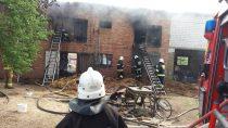 Prawie 5 godzin trwała akcja gaśnicza budynku gospodarczo-inwentarskiego wmiejscowości Wydrzyn