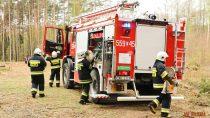 Pożar lasu czyli międzypowiatowe ćwiczenia strażackie wgminie Pątnów