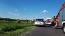 Wypadek wSzynkielowie. Śmigłowiec LPR zabrał poszkodowane dziecko