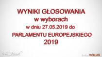 Wyniki głosowania wwyborach doEuroparlamentu 2019 dla pow. wieluńskiego igm. Wieluń nadzień 27 maja