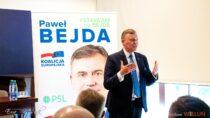 Naspotkaniu wwieluńskim muzeum Poseł Paweł Bejda zachęcał dogłosowania wwyborach doEuroparlamentu