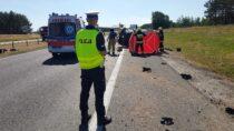 Nadrodze ekspresowej S8 wSokolnikach doszło dośmiertelnego wypadku drogowego