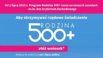 """Odjutra składanie wniosków w""""Programie 500+"""" drogą elektroniczną bezkryterium dochodowego"""