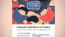 Miejska biblioteka wWieluniu zeszkołami ponadgimnazjalnymi przyłączyła się dobicia rekordu liczby osób jednocześnie czytających