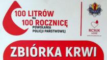 """Policja zbiera krew wramach akcji """"100 litrów na100. rocznicę"""""""