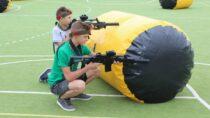 Gminny Ośrodek Kultury wCzarnożyłach przygotował dla dzieci paintball laserowy