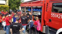 Obóz Młodzieżowych Drużyn Pożarniczych zwizytą uwieluńskich strażaków