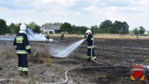 Kolejny pożar, paliło się ściernisko ilas wCzernicach