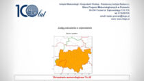 Instytut Meteorologii iGospodarki Wodnej wydał ostrzeżenie dla powiatu wieluńskiego oburzach zgradem