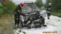 Wmiejscowości Morzykobyła podOżarowem palił się samochód