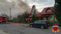 Pożar budynku gospodarczego wStarzenicach