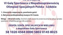 Uroczysta VI Gala Sportowca z Niepełnosprawnością Olimpiad Specjalnych Polska – Łódzkie