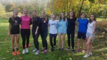 Drużyna dziewcząt zII LO ichłopców zZS nr2 orazII LO wwojewódzkim finale wsztafetowych biegach przełajowych