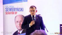 WWieluniu odbyło się spotkanie przedwyborcze Marszałka Senatu Profesora Michała Seweryńskiego iPosła Pawła Rychlika