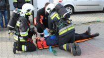 Rozerwanie butli zgazem ipożar – służby ratownicze wKonopnicy ćwiczyły wzajemną współpracę