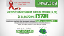 3 osoby dziennie dowiadują się, żesą zakażone HIV! Nieczekaj, zbadaj się