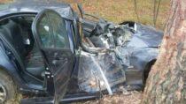 Naskutek wypadku 21-letni kierujący zobrażeniami wszpitalu