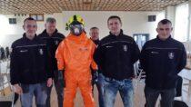 Strażacy ochotnicy byli szkoleni przezstrażaków zawodowych zKP PSP wWieluniu