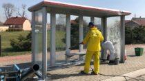 Dezynfekcja przystanków komunikacji miejskiej naterenie Gminy Wieluń