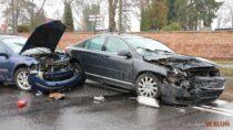 Jedna osoba wszpitalu naskutek wypadku wWieluniu
