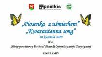 Powiatowy Młodzieżowy Dom Kultury iSportu wWieluniu ogłasza konkurs naoptymistyczną iturystyczną piosenkę