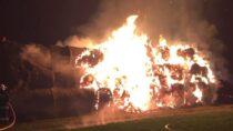 750 balotów słomy spłonęło wmiejscowości Turów gm. Wieluń