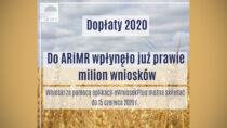 Dopłaty 2020: milion wniosków odrolników już wARiMR