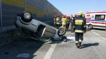 Dwie mieszkanki powiatu wieluńskiego poszkodowane wwypadku naS8 koło Pabianic